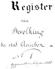 register van bevolking 1846 - cover